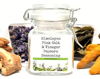 Himalayan Pink Salt & Vinegar Popcorn Seasoning, Gifts for Foodies, Foodie Gift, Chef Gift, Popcorn Bar, Popcorn Gift