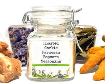 Roasted Garlic Parmesan Popcorn Seasoning, Gifts for Foodies, Foodie Gift, Chef Gift, Popcorn Lover, Popcorn Gift