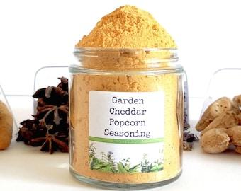 Garden Cheddar Popcorn/Popcorn Seasoning/Popcorn Seasoning Set/Gourmet Popcorn/Popcorn Bowl/Food Gift/Foodie Gift/Party Favor/Wedding Favors