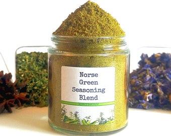 Norse Green Seasoning Blend, Viking Spice Mix, Gourmet Herbs, Gluten Free, No MSG