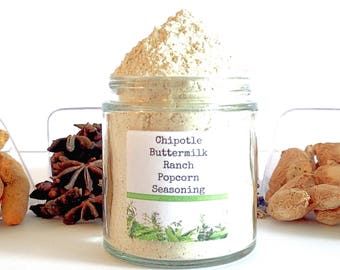 Chipotle Buttermilk Ranch/Popcorn Seasoning/Gourmet Popcorn/Popcorn Bowl/Popcorn Items/Food Gift/Foodie Gift/Party Favors/Wedding Favors