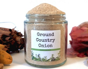 Ground Country Onion/Food Gift/Spice Rack/Seasoning Blends/Gifts For Foodies/Foodie Gift/Seasonings Gifts/Kitchen Pantry/Chef Gift