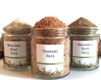Flavored Salt/Rimming Salt/Popcorn Seasoning/Food Gift/Spice Rack/Gifts For Foodies/Foodie Gift/Seasonings Gifts/Kitchen Pantry/Chef Gift