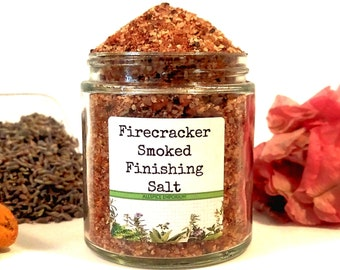 Firecracker Smoked Finishing Salt, Gifts for Foodies, Foodie Gift, Chef Gift