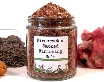 Firecracker Smoked Salt/Finishing Salt/Rimming Salt/Food Gift/Gifts For Foodies/Foodie Gift/Seasonings Gifts/Kitchen Pantry/Chef Gift