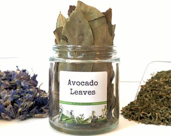 Dried Avocado Leaves/Gourmet Herbs/Dried Herbs/Gifts For Foodies/Foodie Gift/Seasonings Gifts/Kitchen Pantry/Chef Gift/Food Gift