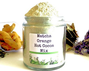 Matcha Orange/Drinking Chocolate/Hot Chocolate/Hot Cocoa Bar/Food Gift/Spice Rack/Gifts For Foodies/Foodie Gift/Cooking Gift