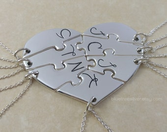 7 Friends Necklace Etsy