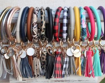 Cute Buffalo Key Chain Handmade Fabric Key Ring Bag Decoration