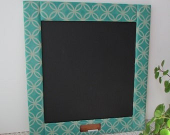 Chalk Board,19 X 21,green/teal framed chalkboards, office,mudroom,organizer,message center,stenciled blackboards,home decor,teen/tween decor