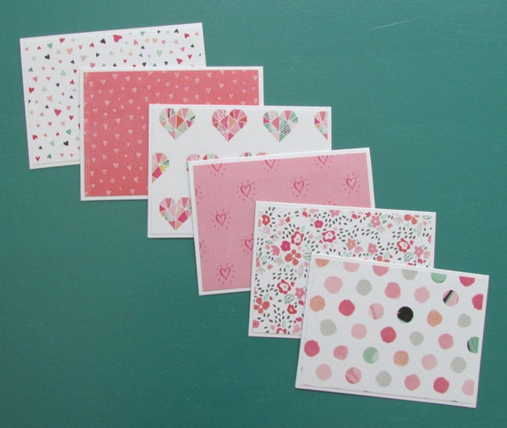 Growing Hearts set of 6 notecards