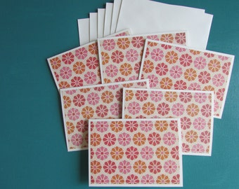 Note cards-set of 6,Blank cards-Handmade card sets, cards, floral stationery sets, all occasion card sets, greeting cards,homemade cards