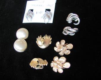 Vintage Kramer 5 pair earrings
