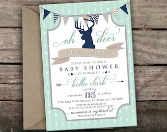 Oh Deer Baby Shower Invitation Little Deer Baby Shower