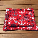 Nautical Dog Crate Pad, Cat Bed, Washable