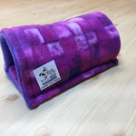 Fleece Tunnel for Guinea Pigs, Cage Accessory, Hedgehogs.  Perfect for small critters. 12 Inch