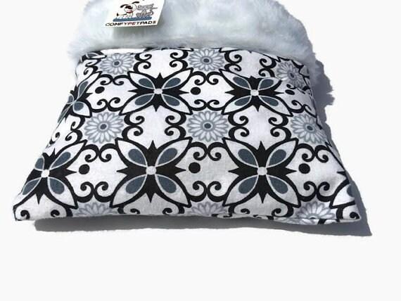 Black and White Snuggle Sack, Hedgehog Cuddle Bag, Sugar Glider Pouch, Cozy Den, Hamster Bedding, Chinchilla Cave, Small Animal Bedding
