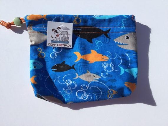 Gifts Under 10, Shark Bag, Dog Leash Bag, Cell Phone Bag, Shark Party, Small Project Bag, Leash Bag Gymnastics Grip Bag, Gifts Under 15