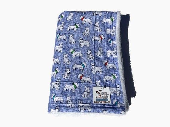 Scottish Terrier Blanket, Dog Blanket, Crate Cover, Washable, Size 39x29