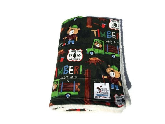 Blanket with Smokey the Bear, Washable, Size 39x29