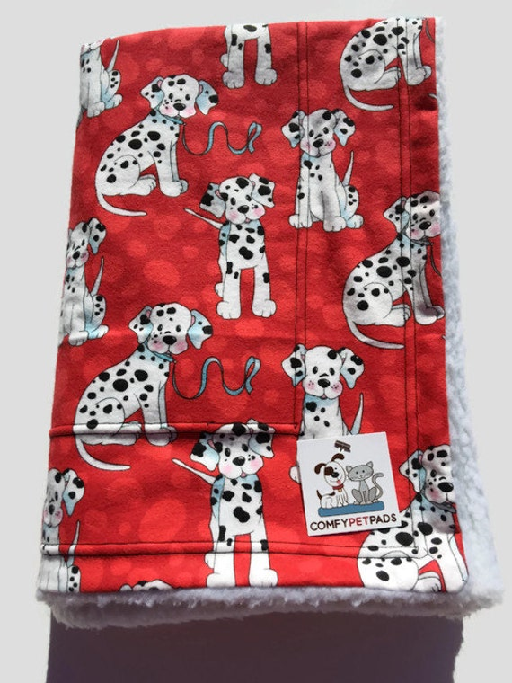 Dalmatian Blanket, Red Baby Blanket, Stroller Cover, Baby Shower Gifts, Dalmatians Party, Dalmatian Fabric, Dog Throw, Puppy Bedding