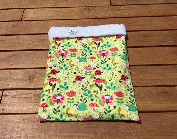 Lady Bug Snuggle Sack, Pocket Bed, Blanket, Small Dog Bed, Dog Sleeping Bag, Kitty Bed Warmer, Burrow Bag, Cat Cave, Cat Sleeping Bag, SSL