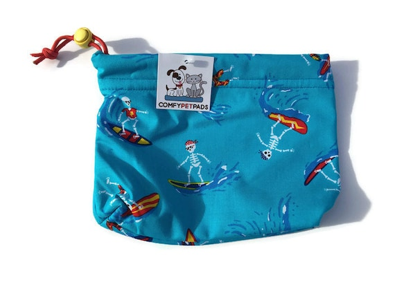 Gifts Under 10, Surfer Gifts, Skeleton Items, Puppy Training, Dog Walk Bag, Pet Pouch, Treat Pouch, Dog Bag, Project Bag, Craft Bag