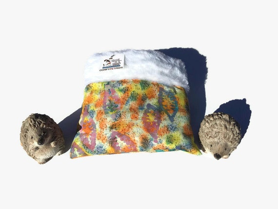 Hedgehog Snuggle Sack, Guinea Pig Bed, Small Critters, Faux Fur, 3 layers, Washable, Size 9x9