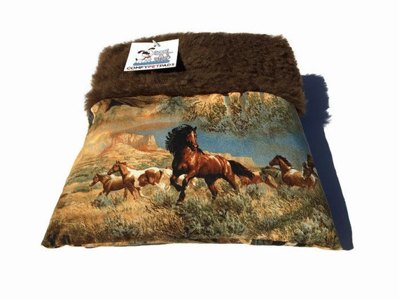 Southwestern Wild Horses Hedgehog Bonding Bag, Snuggle Sack, Size 9x9, Easy to Clean