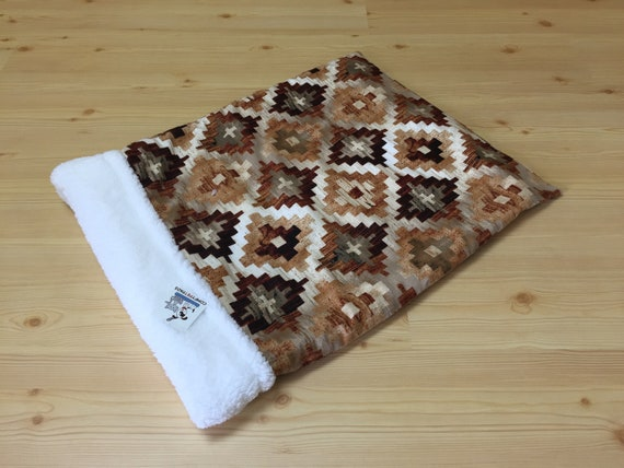 Southwestern Snuggle Sack, Dog Burrow Bed, Cat Bedding, Washable