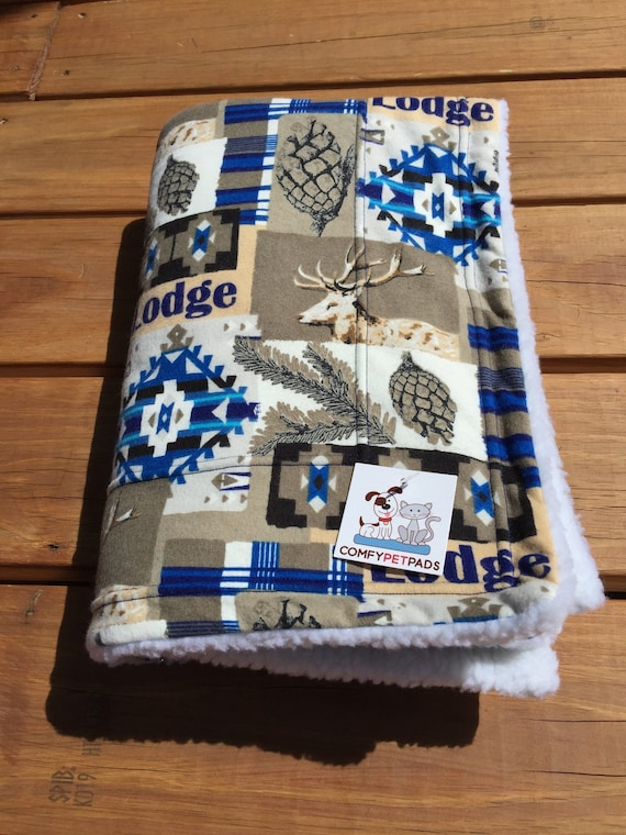 Pet Blanket, Dog Crate Bedding, Lodge Decor, Gift for Outdoor Lover, Outdoor Life, Camping Gifts, Little Boy Gifts, Stroller Blanket