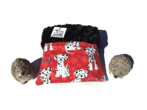 "Hedgehog Snuggle Sack - Minky Swirl Fur - Small Animal Bedding - 3 layers - Size 9""x9"" - Washable"
