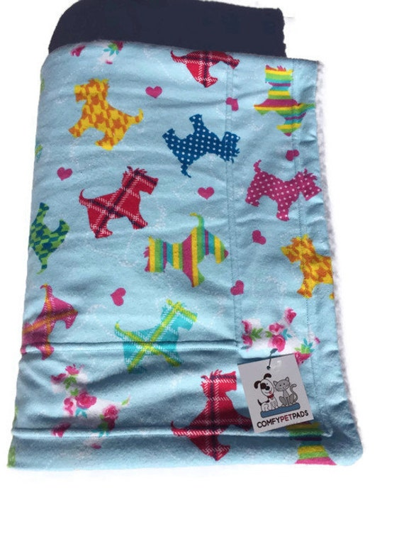 Dog Blanket Scottish Terrier, Size 39x29