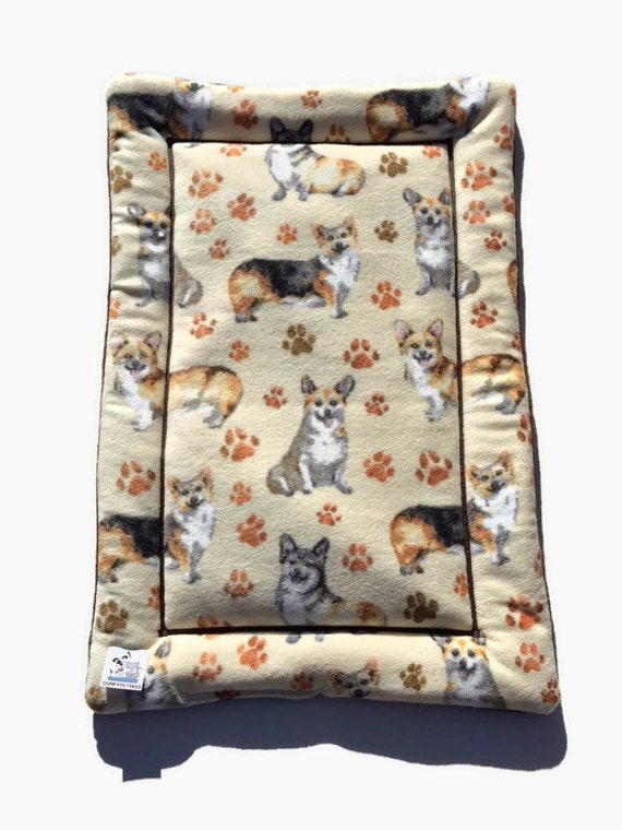 Dog Bed with Corgis, Fits 24x36 Crate