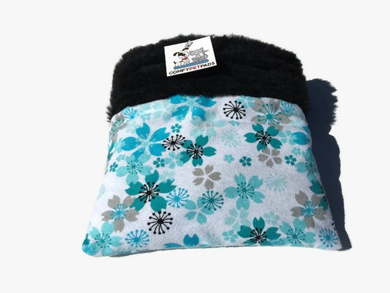 Blue Small Animal Bedding, Floral Snuggle Sack, Hedgehog Bedding, Cuddle Bag, Sugar Glider Pouch, Cozy Cave, Hamster Bedding, Bonding Bag