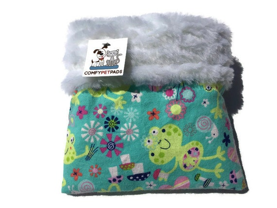 Hedgehog Snuggle Sack with Faux Fur,Small Animal Sleeping Bag, 3 Layers, Size 9x9, Washable