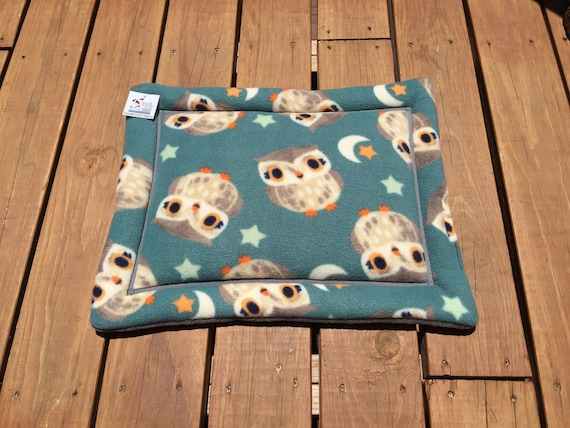 Crate Pad with Owls, Stroller Pet Bed, Cat Chair Cover, Carrier Pad, Puppy Bedding, Kennel Liner, XS