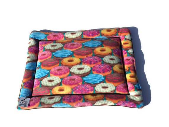 Small Dog Bed with Donuts, Cat Bedding, Crate Mat, Pet Stroller Pad, Washable, 19x25