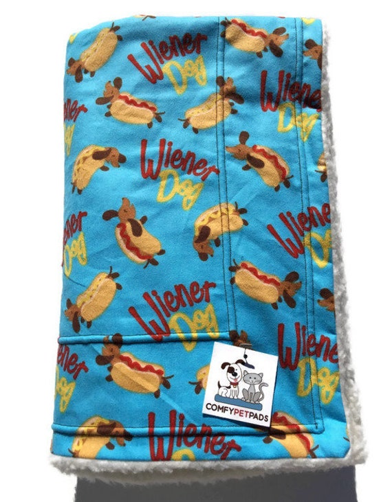 Dachshund Dog Blanket, Wiener Dog Bedding, Size 39x29