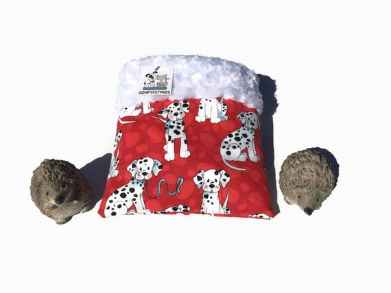 """Snuggle Sack for Hedgehogs, Minky Swirl Fur, Small Animal Bedding, 3 layers, Size 9""""x9"""", Washable"""
