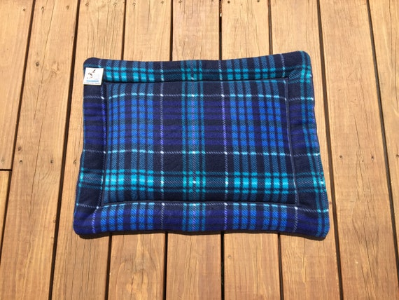 Window Pad for Cats, Blue Plaid Dog Bed, Small Cat Mat, Puppy Gifts, Couch Pad, Comfy Pet Bed, Crate Cover, Dog House Pads, 19x25