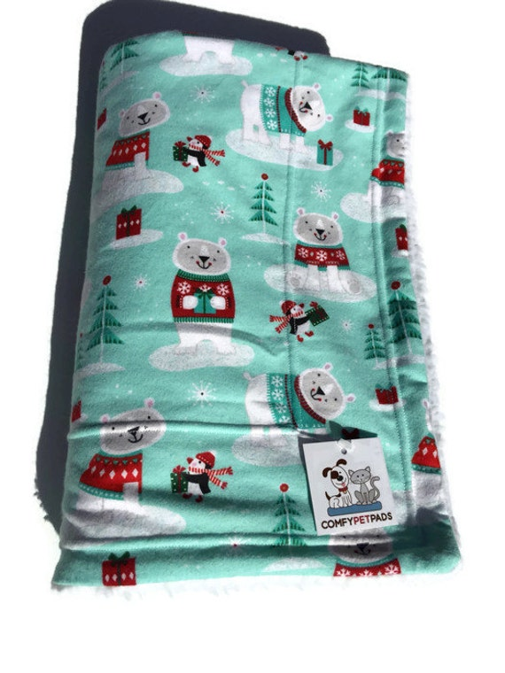 Blanket with Polar Bears, Christmas Pet Gifts