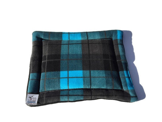 Plaid Dog Bed, Small Crate Pad, Washable, Size 20x17