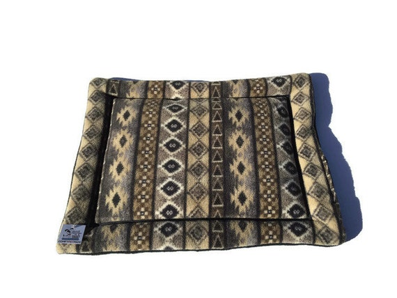 Southwestern Dog Bed, Pet Stroller Pad, Cat Chair Cover, Dog Crate Mat, Puppy Bedding, Washable, Kennel Mat, Size 19x25