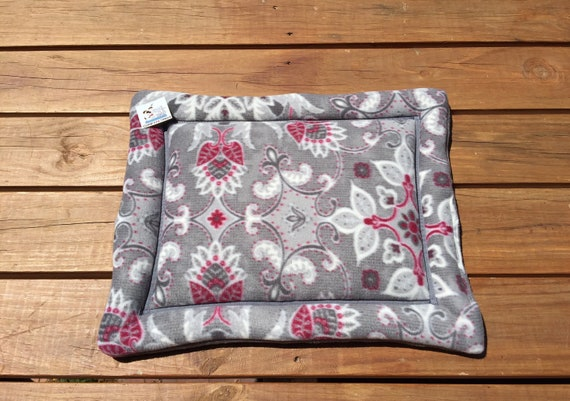 Cat Bed, Dog Crate Pad, Medallion Flowers, Kennel Liner, Puppy Bedding, XS