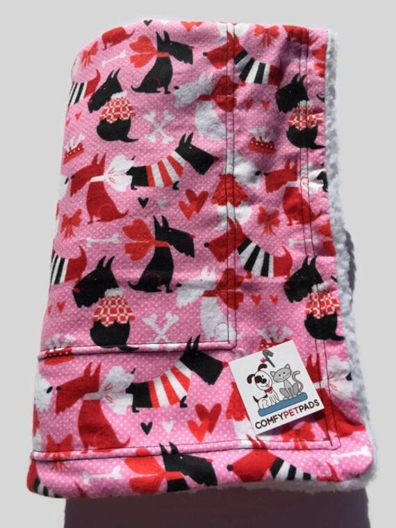 Pink Schnauzer Dog Blanket