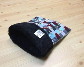Cat Snuggle Sack, Guinea Pig Bed, Small Dog, Pet Sleeping Bag, Washable, Size 15x15