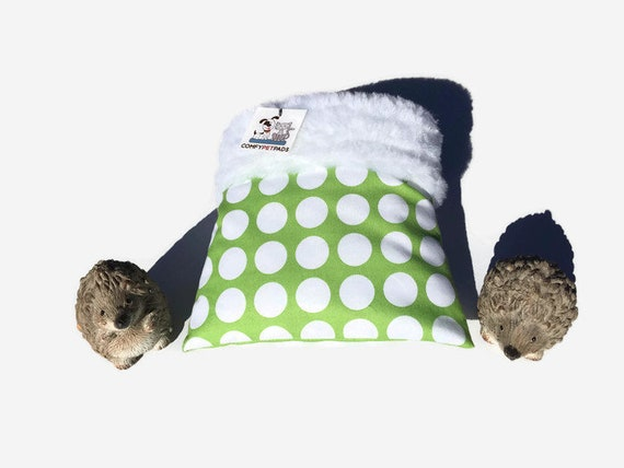 Snuggle Sack for Hedghogs with Faux Fur, 3 layers, Washable, Size 9x9