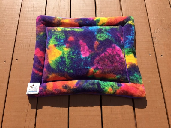 Colorful Dog Bed, Tiny Dog Bed, Cat Pad for Chair, Dog Crate Pad, Portable Dog Bed, Machine Washable, Kennel Pad, Puppy Bedding, XS