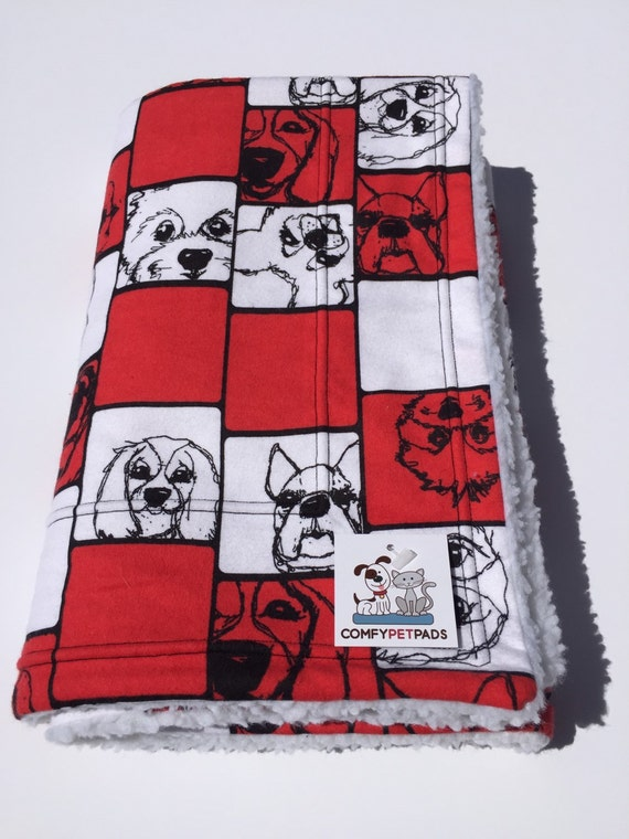 Red Dog Blanket, Size 39x29